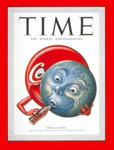 This 1950 Time cover captures Coke's global conceit two decades before Don's bright idea