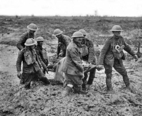 Stretcher bearers at Passchendaele, August 1917